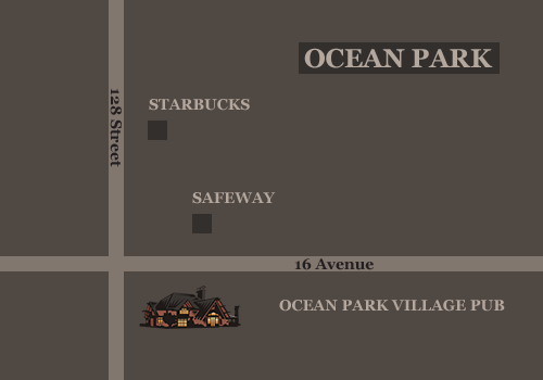 Map of location of Ocean Park Village Pub